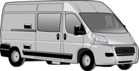 Van for carrying luggage to and from Gatwick Airport